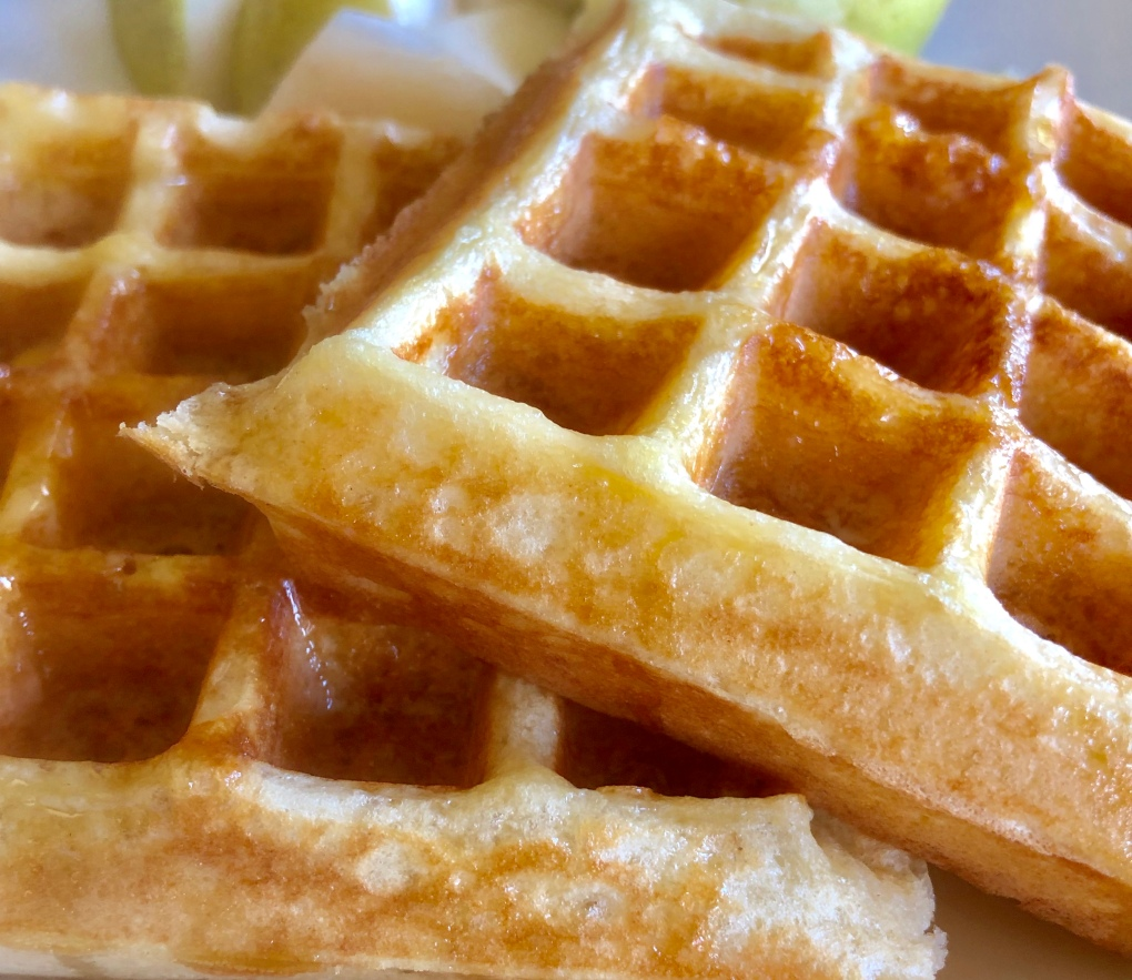 Overnight Sourdough Waffles - Crisp, light, tender and airy, with a hint of tang.